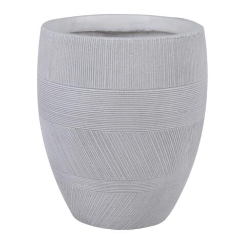 Fibre Clay Pot: Large (43x43x50)cm, Anti White 1