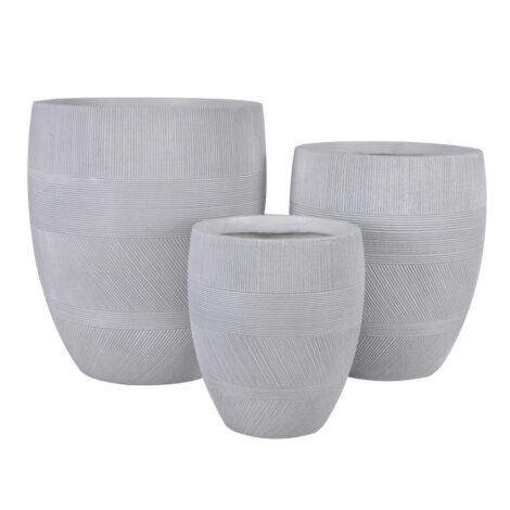 Fibre Clay Pot: Large (43x43x50)cm, Anti White