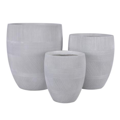 Fibre Clay Pot: Medium (35x35x41)cm, Anti White
