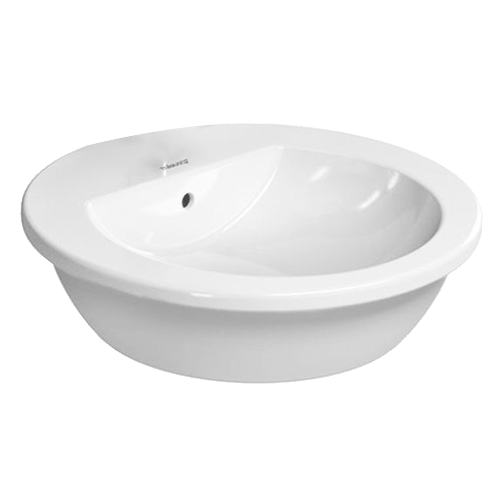 Darling: Over Counter Basin, 47cm 1Tap Hole, White 1