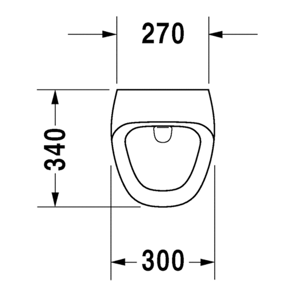 DuraStyle: Urinal Bowl: Concealed Inlet, White