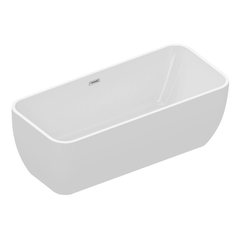 Eko N3: Freestanding Bath Tub With Panel: (170×75)cm, White 1