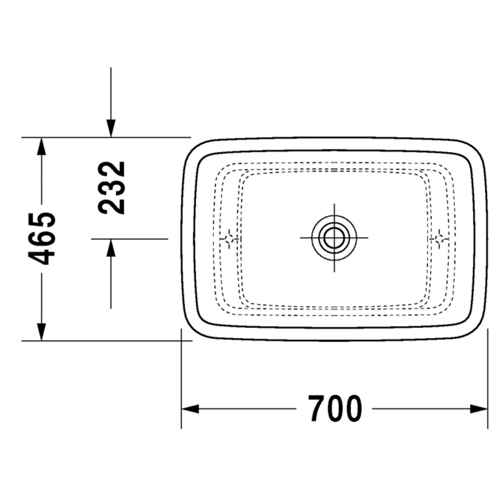 Puravida: Counter Top Basin: White, 70cm