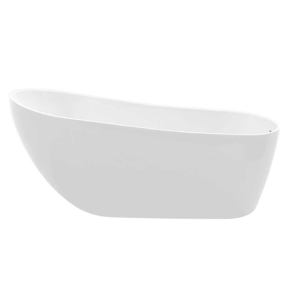 Vintage: Freestanding Bath Tub With Panel: (180×80)cm, White 1