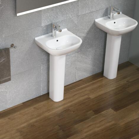 Elodie: Washbasin: (45x38)cm, White