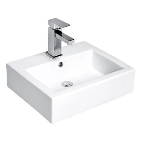 Nova: Counter Top Basin : 50cm, 1TH, White 1