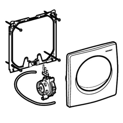 Geberit: Pneumat Urinal Finish Set: Chrome Plated