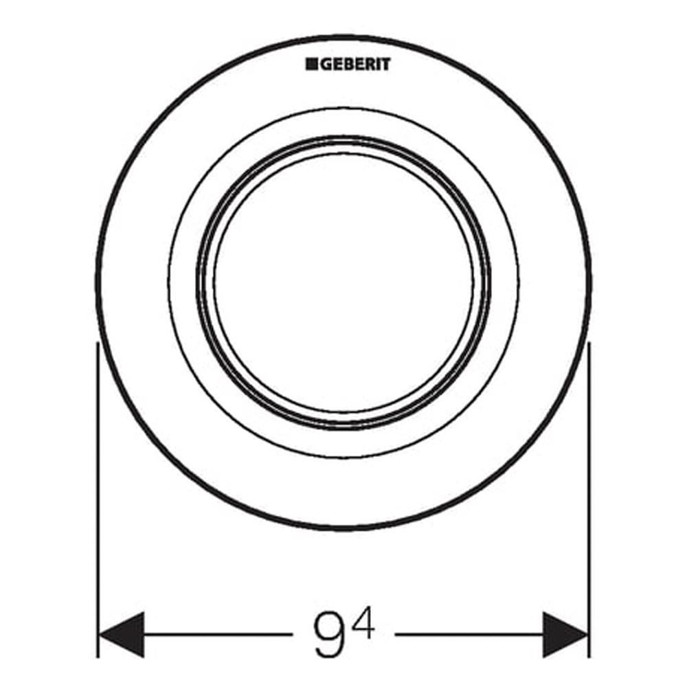 Geberit: Single Flush Pneumatic Button For Concealed Cistern