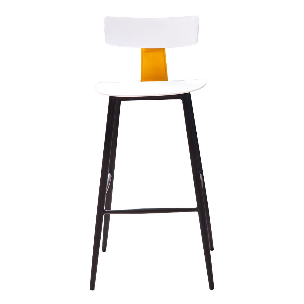 High Bar Chair; H75cm, White/Black 1