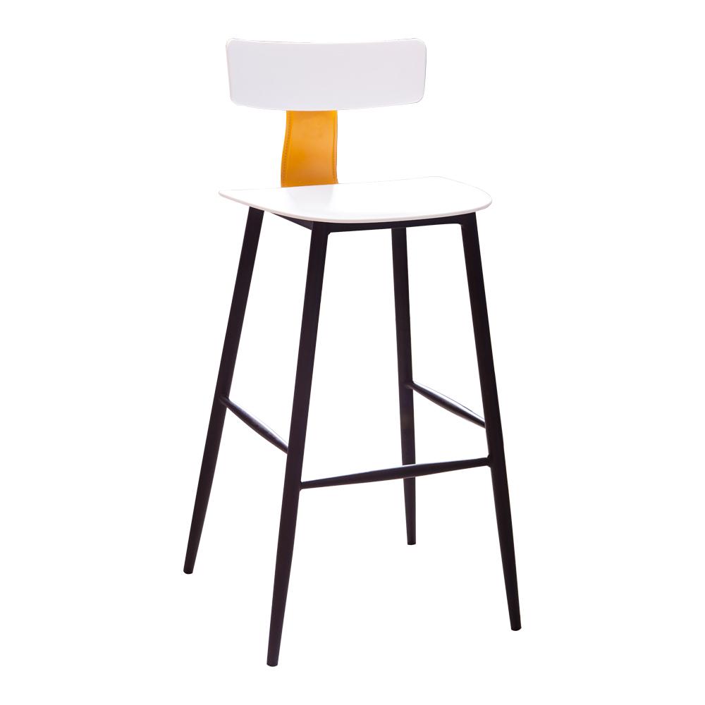 High Bar Chair; H75cm, White/Black