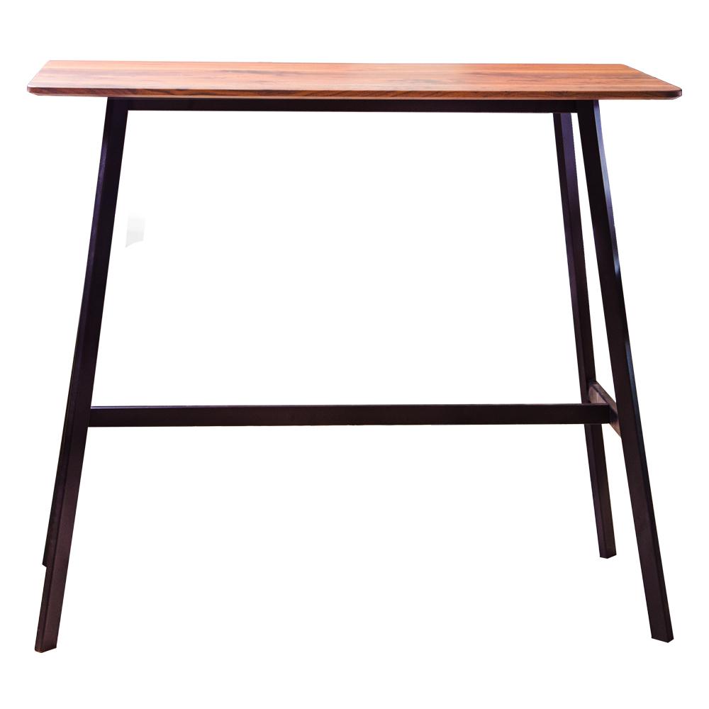Rectangle Bar Table (120x60x105cm), Wood Top 1