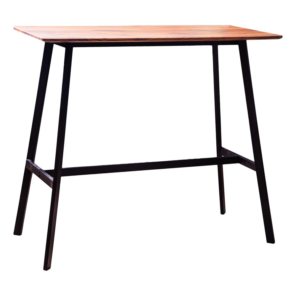 Rectangle Bar Table (120x60x105cm), Wood Top