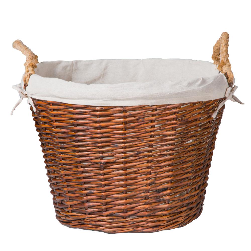 Domus: Round Willow Basket:1pc Set: Large 1