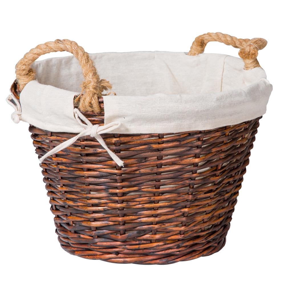 Domus: Round Willow Basket:1pc Set: Small