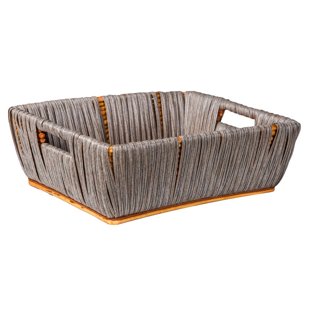 Domus: Rectangle Willow Basket: (47x36x16)cm: Large