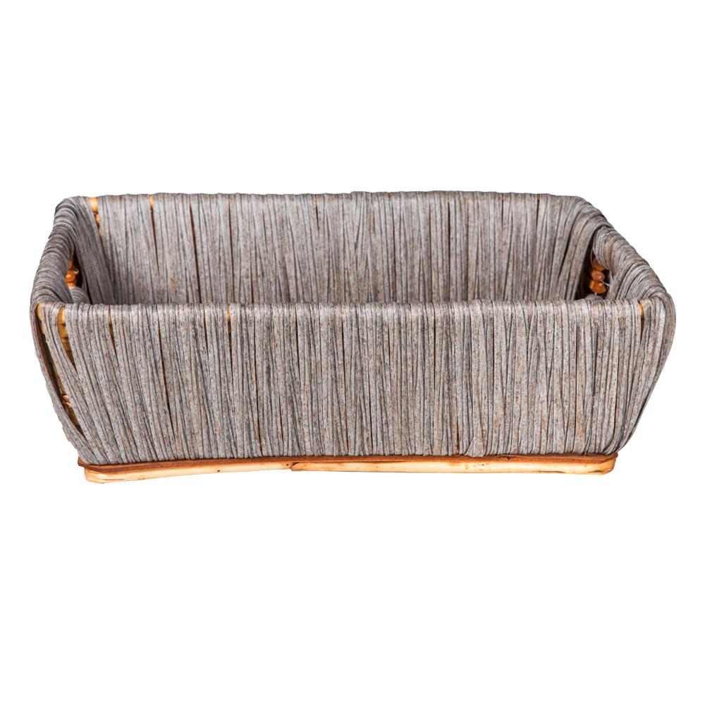 Domus: Rectangle Willow Basket: (40x30x13)cm: Medium 1