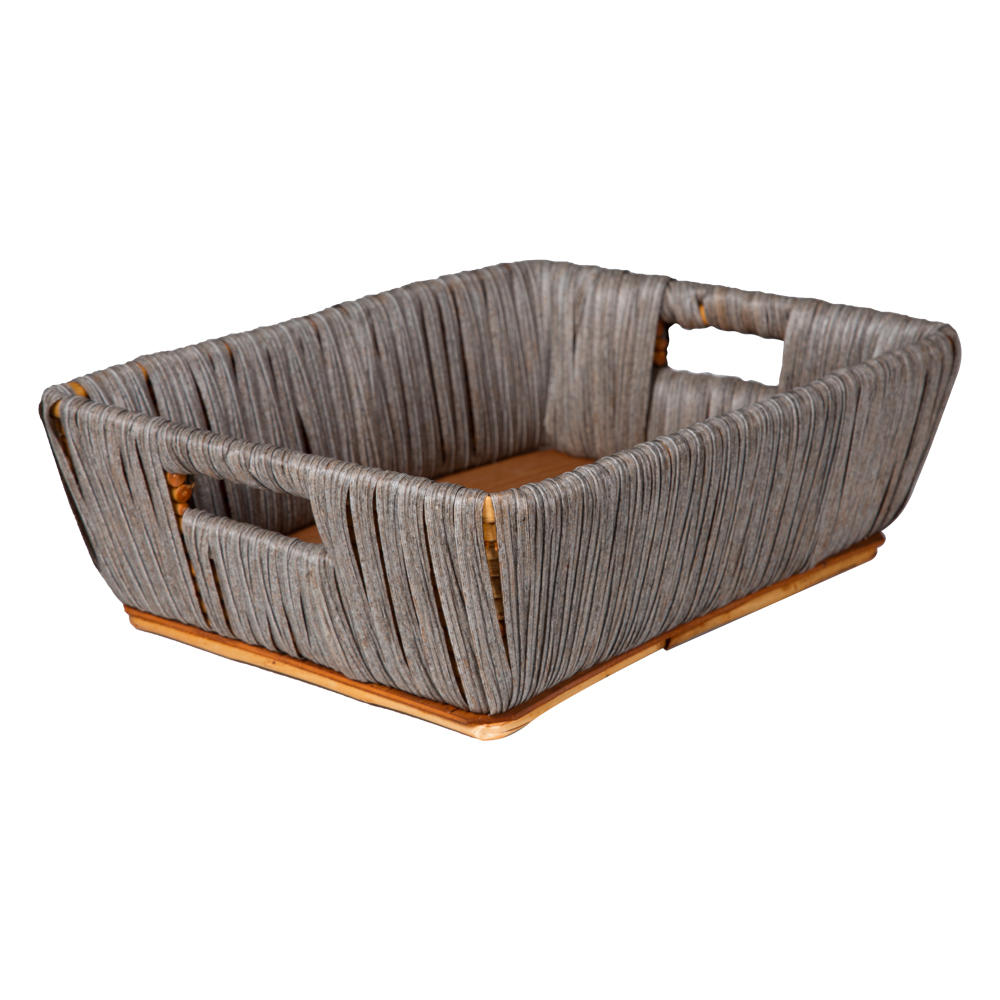 Domus: Rectangle Willow Basket: (40x30x13)cm: Medium