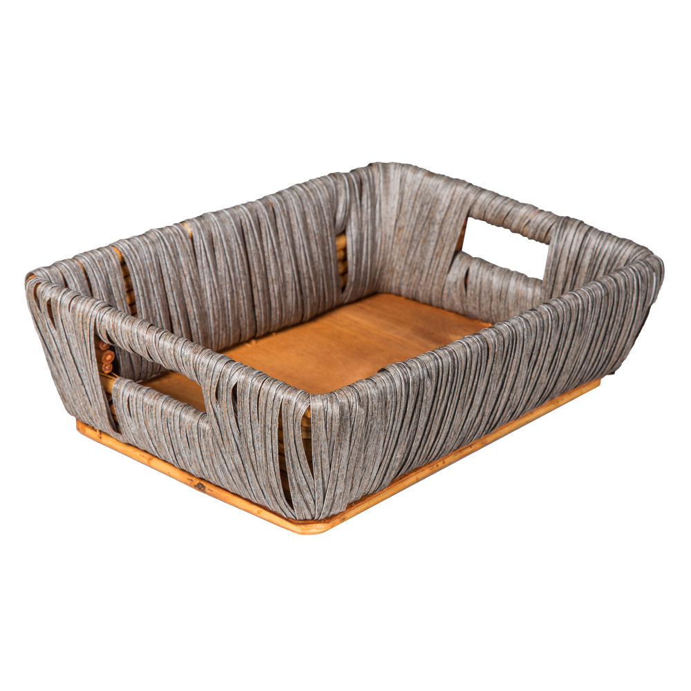 Domus: Rectangle Willow Basket: (34x24x10)cm: Small