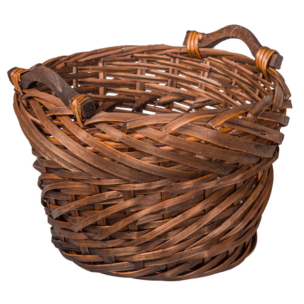Domus: Round Willow Basket: (28x19)cm: Small