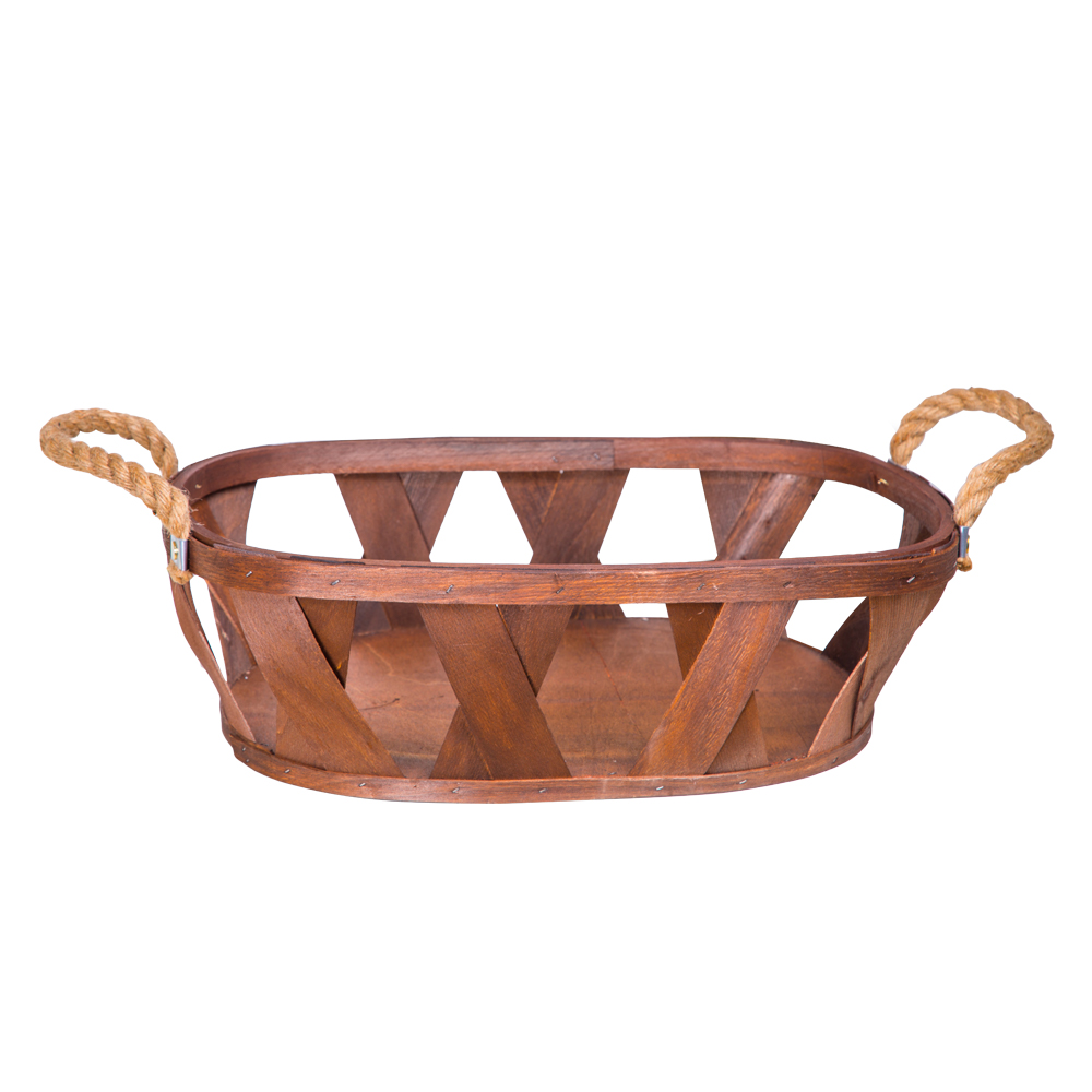 DOMUS:Oval Willow Basket: (46x33x14)cm: Large 1