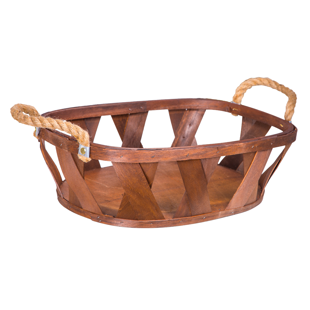 DOMUS:Oval Willow Basket: (46x33x14)cm: Large