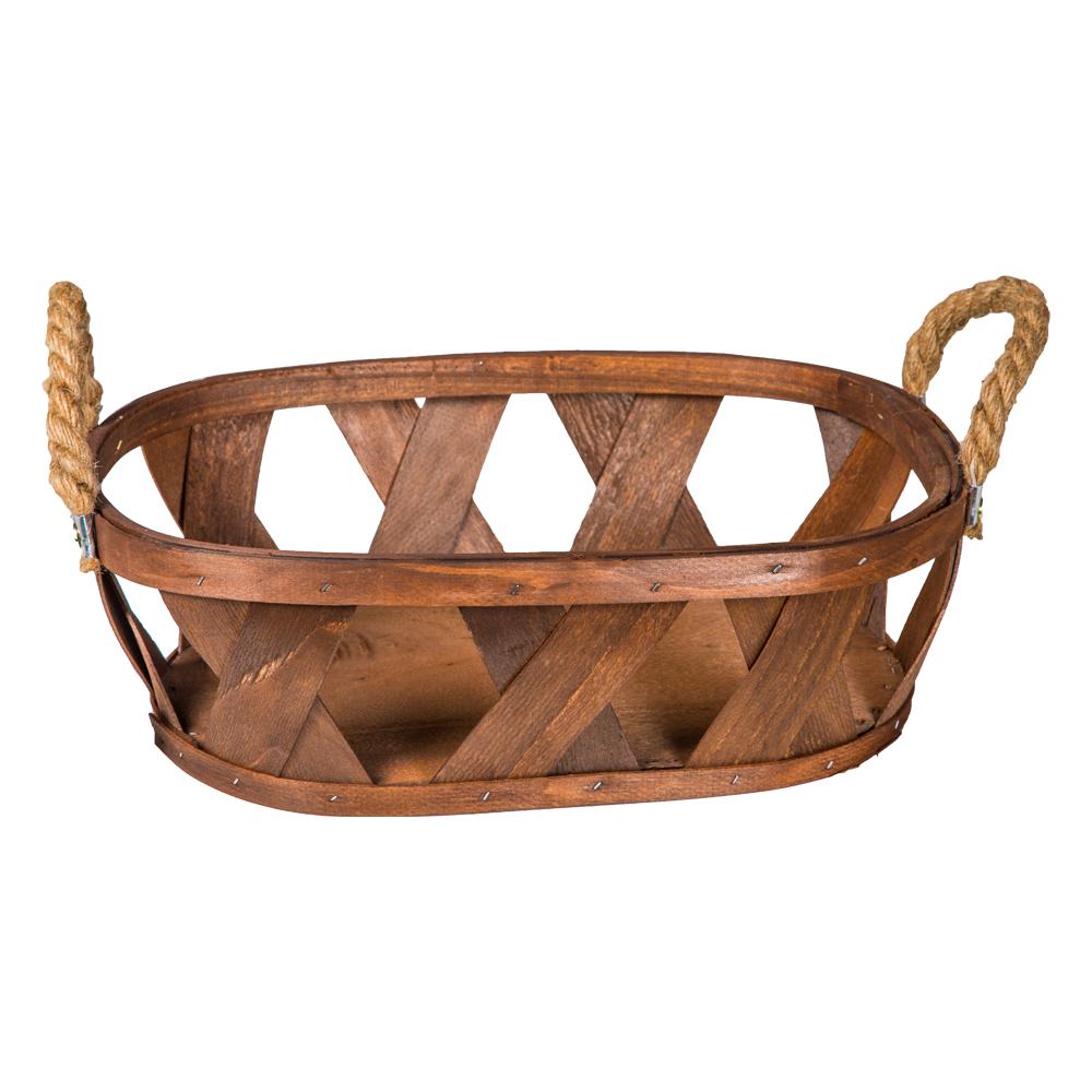 Domus: Oval Willow Basket: (39x28x12)cm, Medium 1