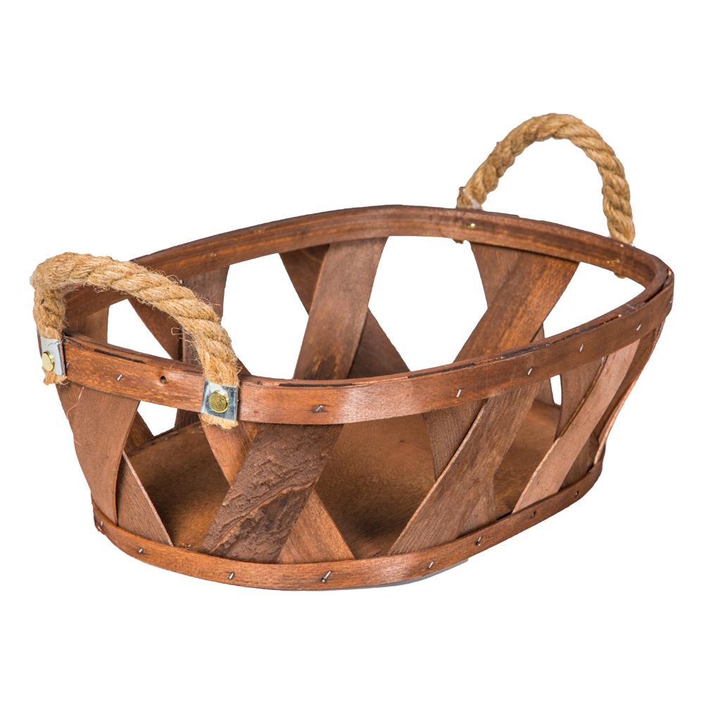 Domus: Oval Willow Basket: (39x28x12)cm, Medium