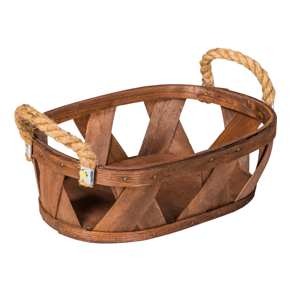 Domus: Oval Willow Basket: (32x22.5x10)cm: Small