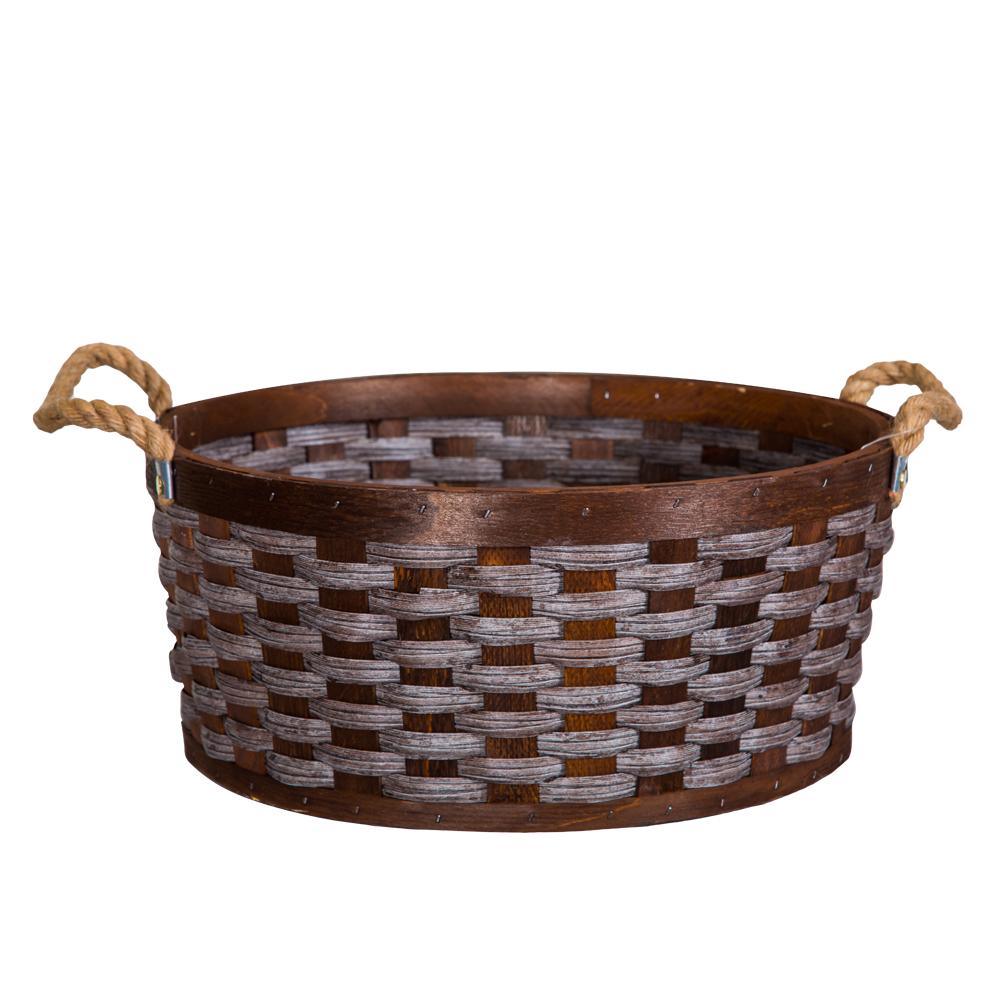 Domus: Round Willow Basket: (39