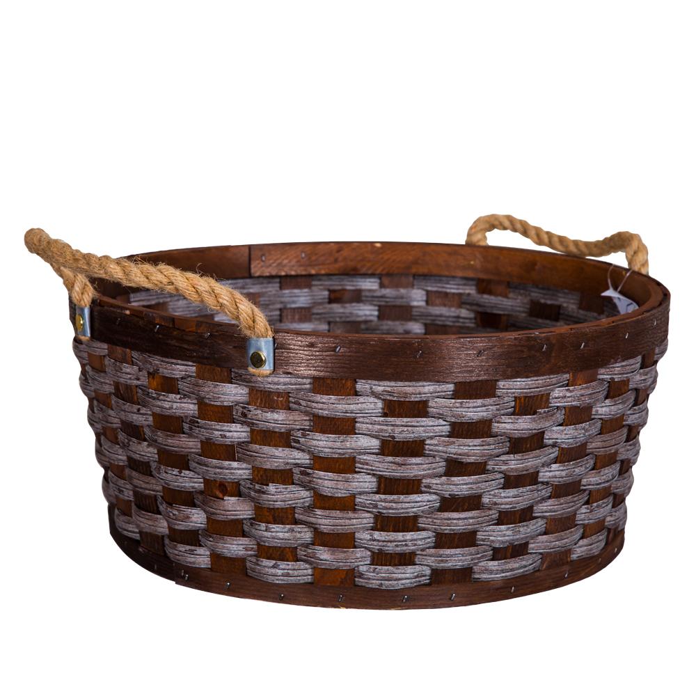 Domus: Round Willow Basket: (39.5x17)cm: Large
