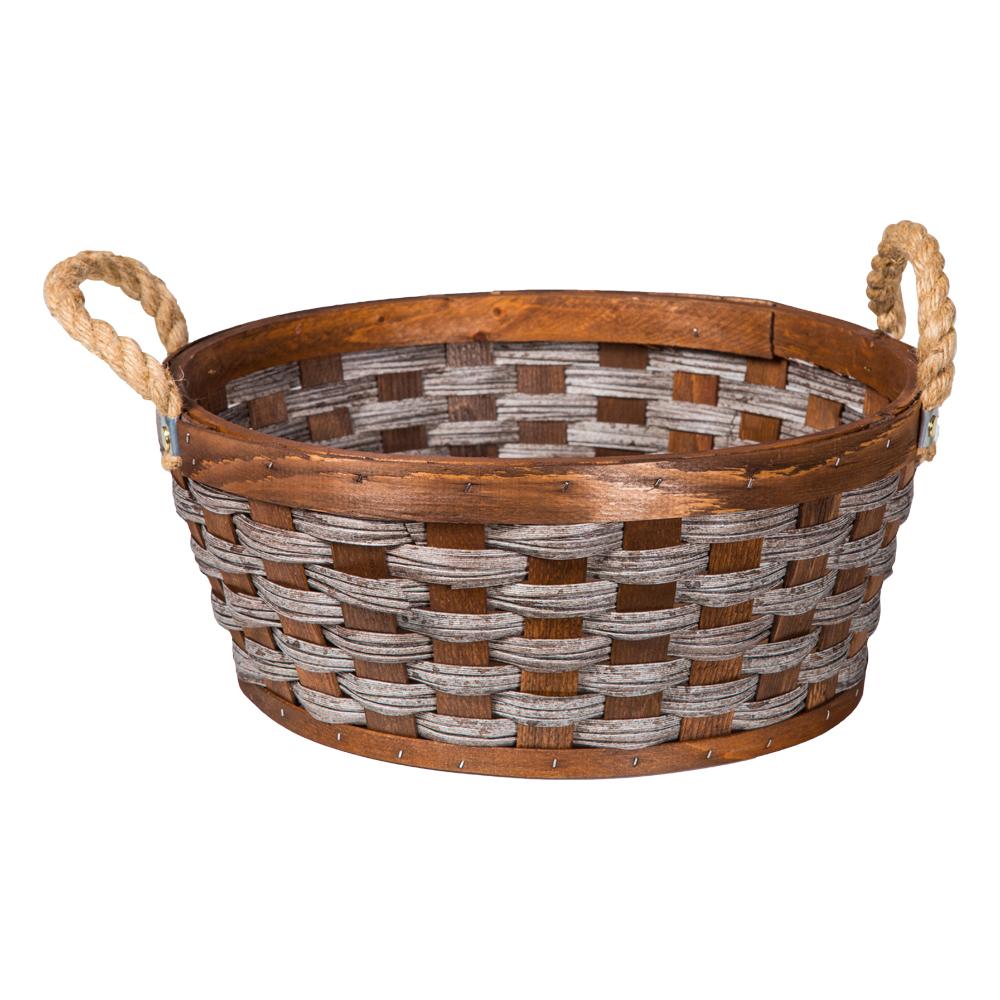 Domus: Round Willow Basket: (35×15)cm: Medium 1