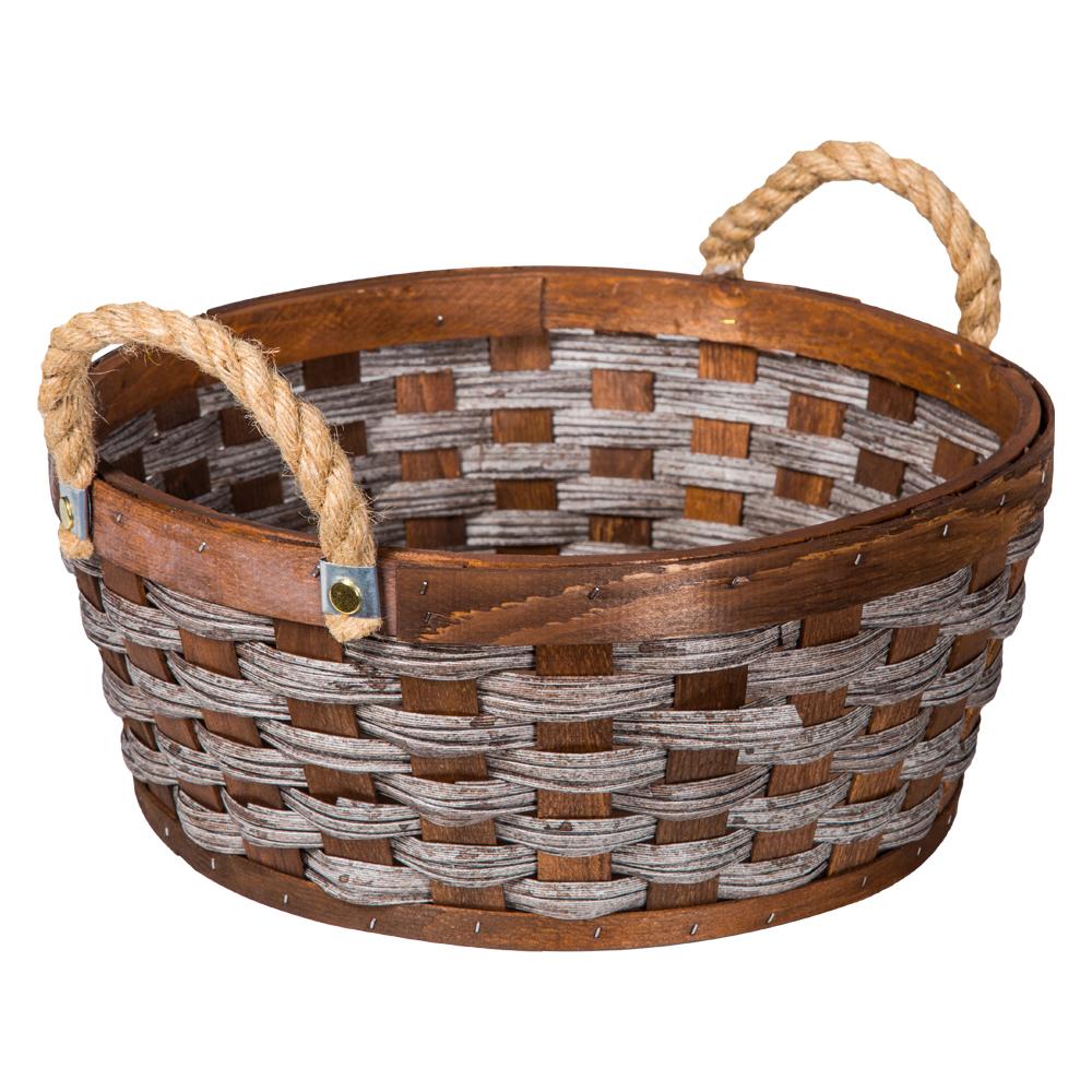 Domus: Round Willow Basket: (35x15)cm: Medium