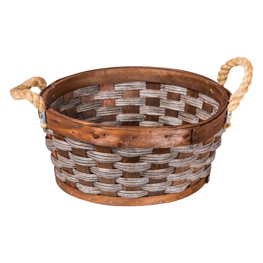 Domus: Round Willow Basket: (30×13)cm: Small 1