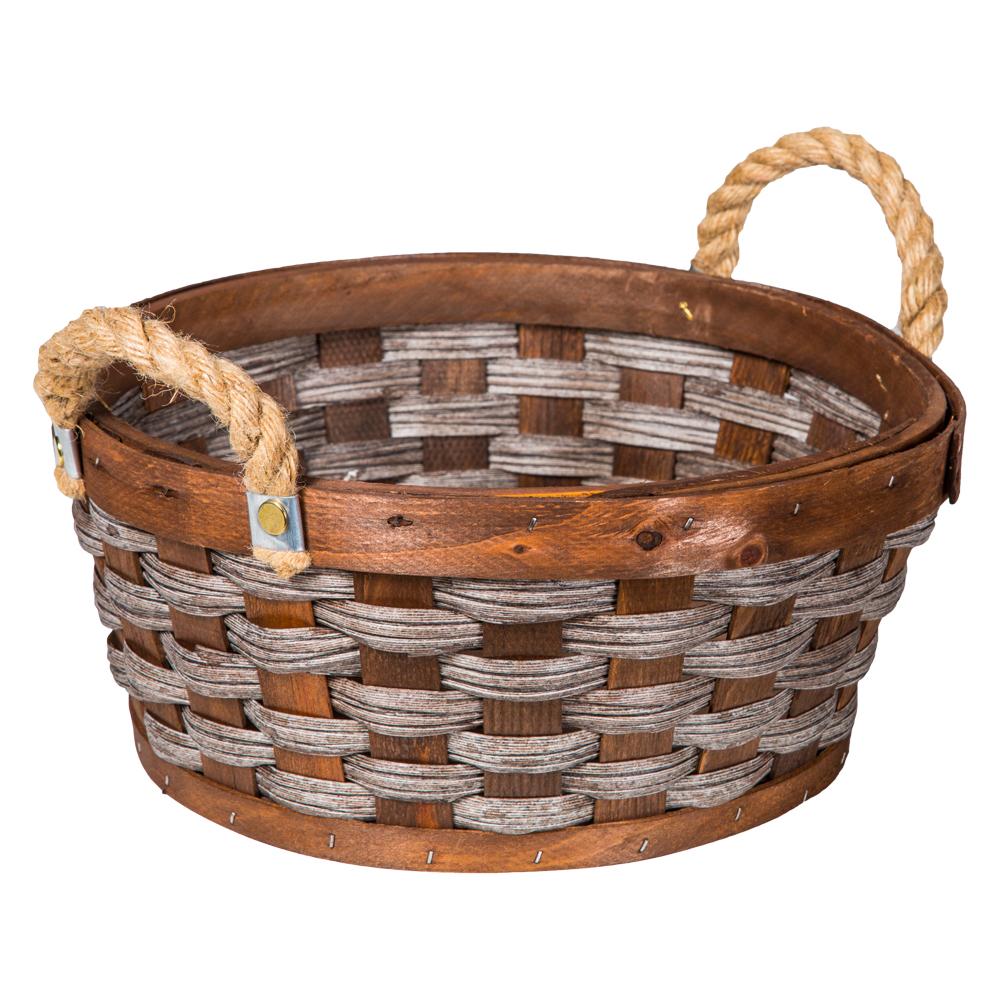 Domus: Round Willow Basket: (30x13)cm: Small