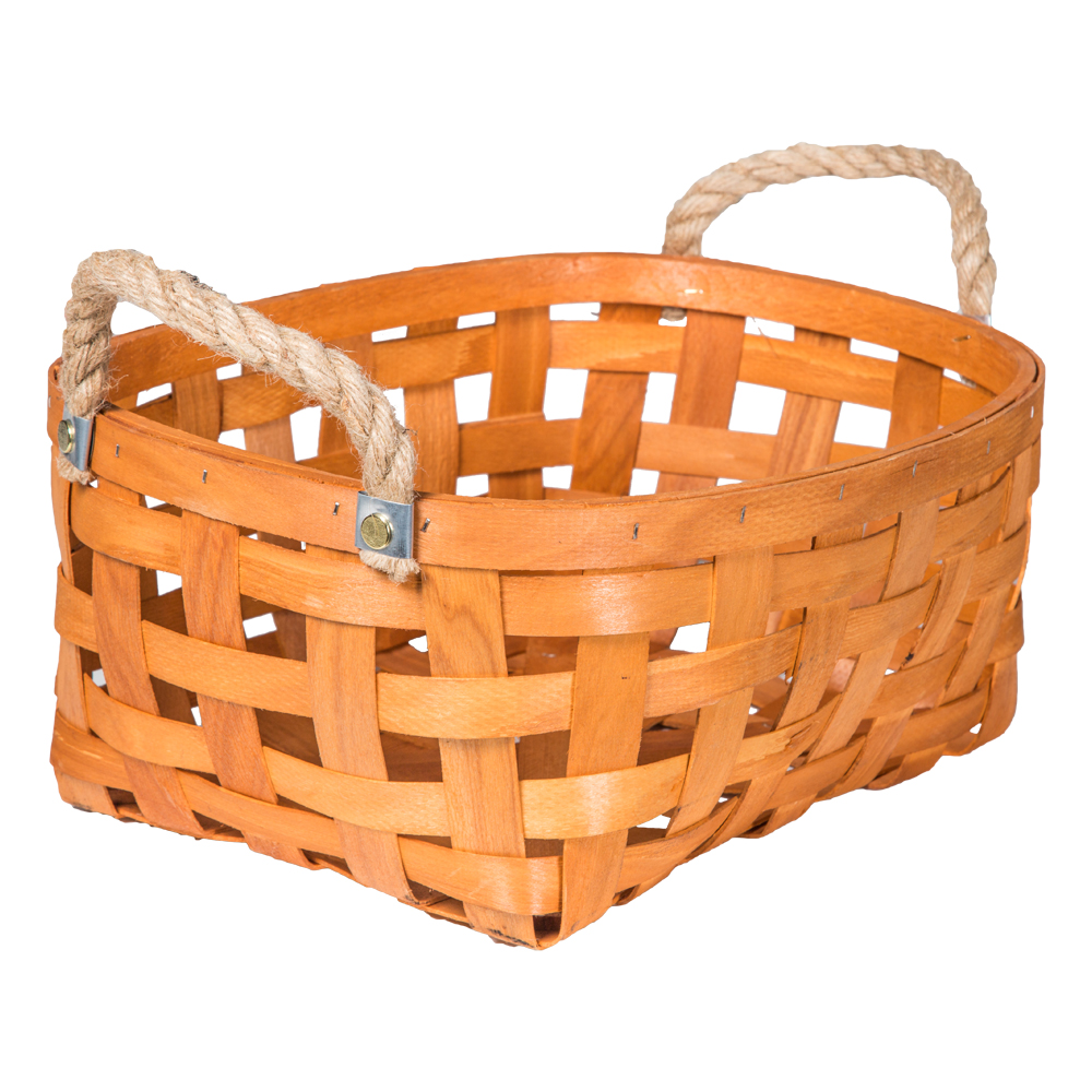 Domus: Oval Willow Basket: (37.5x27.5x16)cm: Large