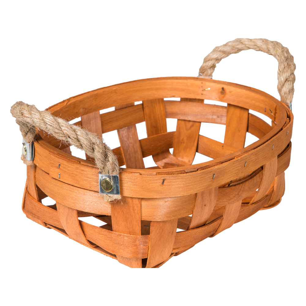 Domus: Oval Willow Basket: (27x18x10)cm: Small