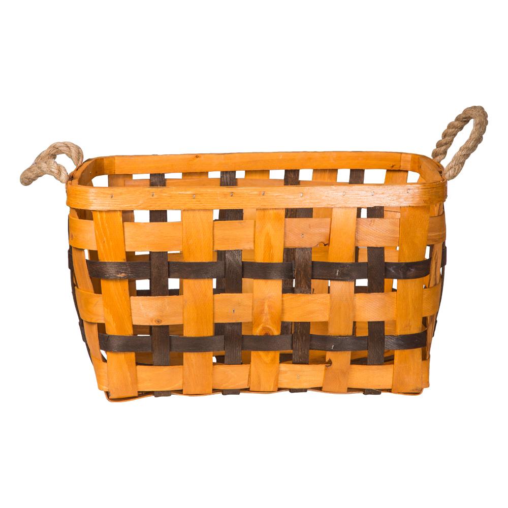 Domus: Rectangle Willow Basket: (45x30x25