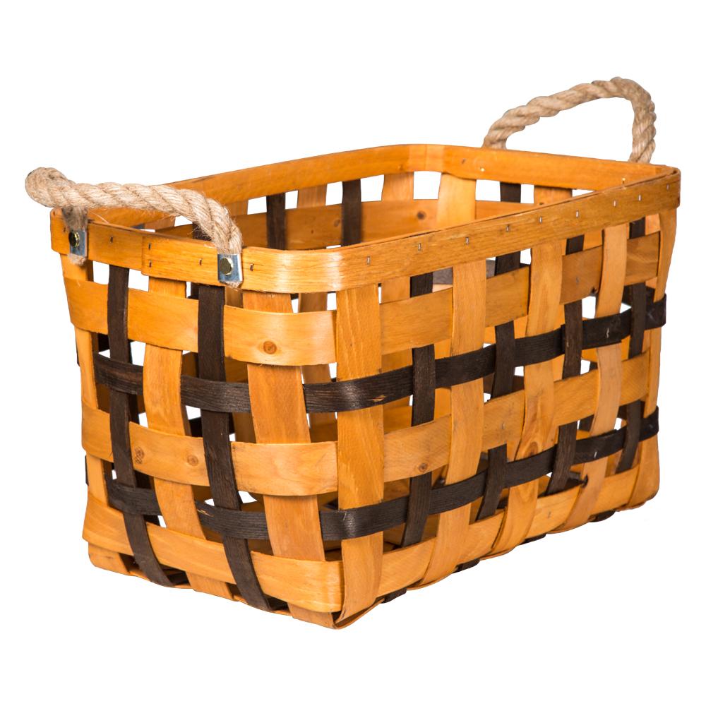 Domus: Rectangle Willow Basket: (45x30x25.5)cm: Large