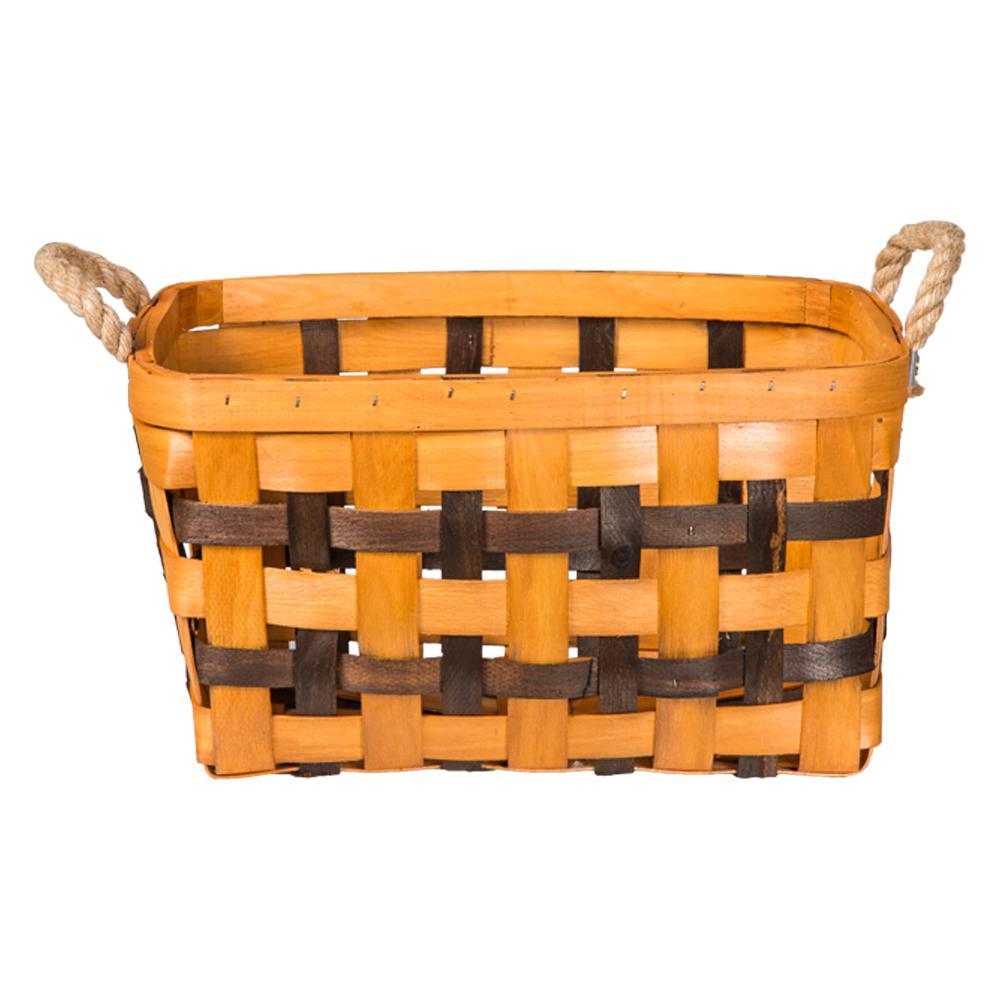 Domus: Rectangle Willow Basket: (39×24