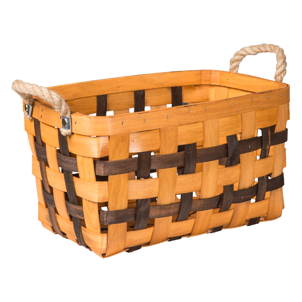 Domus: Rectangle Willow Basket: (39x24.5x23)cm: Small