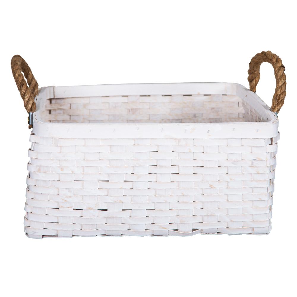 DOMUS:Square Willow Basket: (35x35x19)cm: Large 1