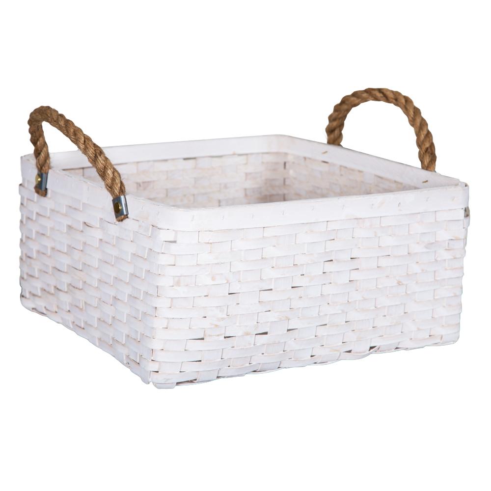 DOMUS:Square Willow Basket: (35x35x19)cm: Large