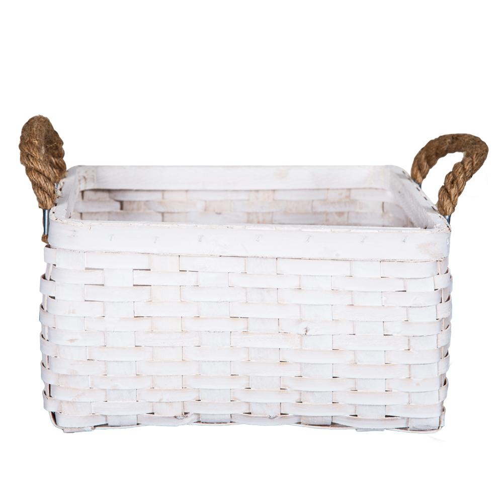 DOMUS:Square Willow Basket: (29x29x16)cm: Medium 1