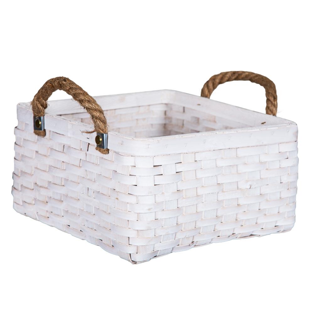 DOMUS:Square Willow Basket: (29x29x16)cm: Medium