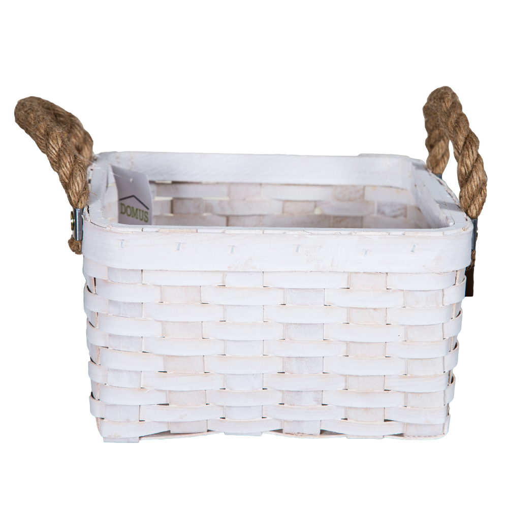 DOMUS:Square Willow Basket: (22x22x14)cm: Small 1