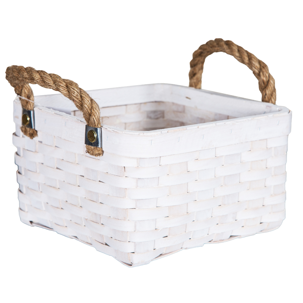 DOMUS:Square Willow Basket: (22x22x14)cm: Small