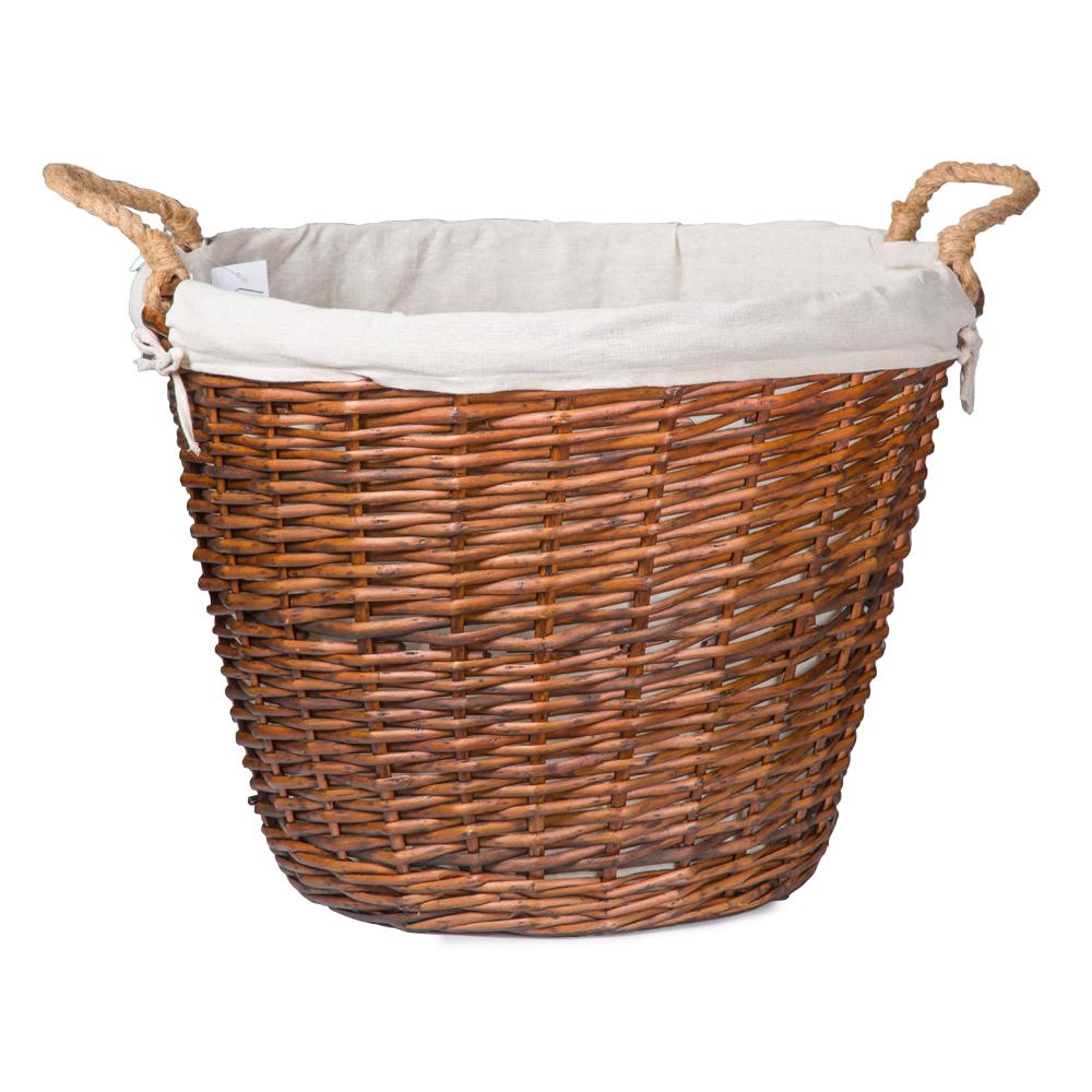 Domus: Round Willow Basket:1pc Set: Extra Large, Brown 1