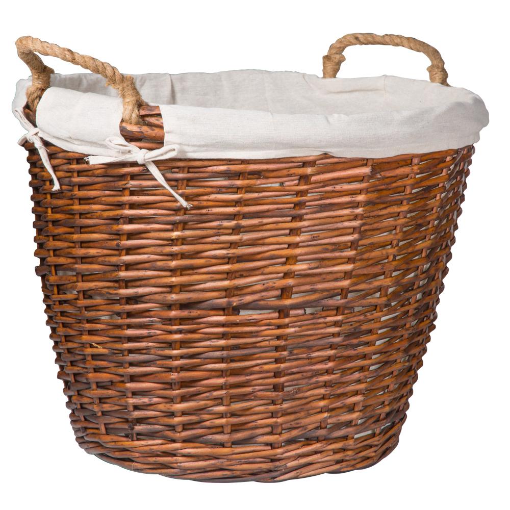 Domus: Round Willow Basket:1pc Set: Extra Large, Brown