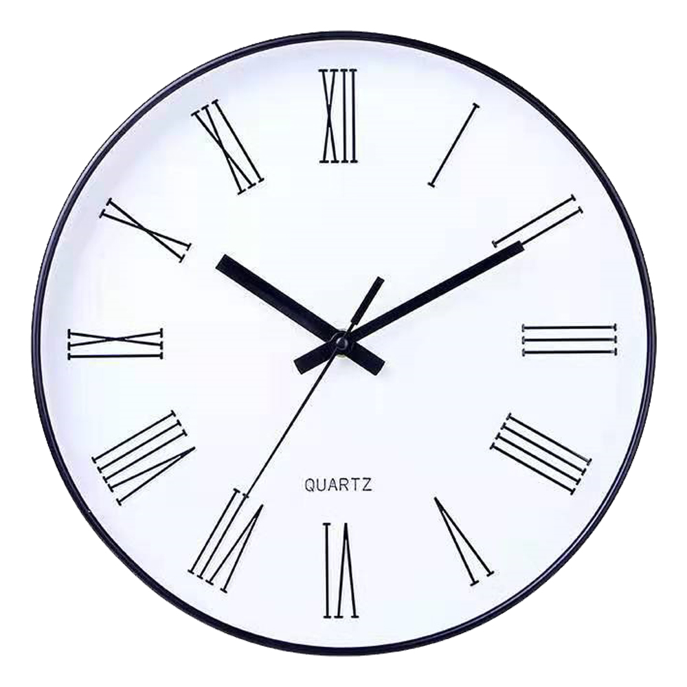 Round Wall Clock: Diameter, 30cm 1