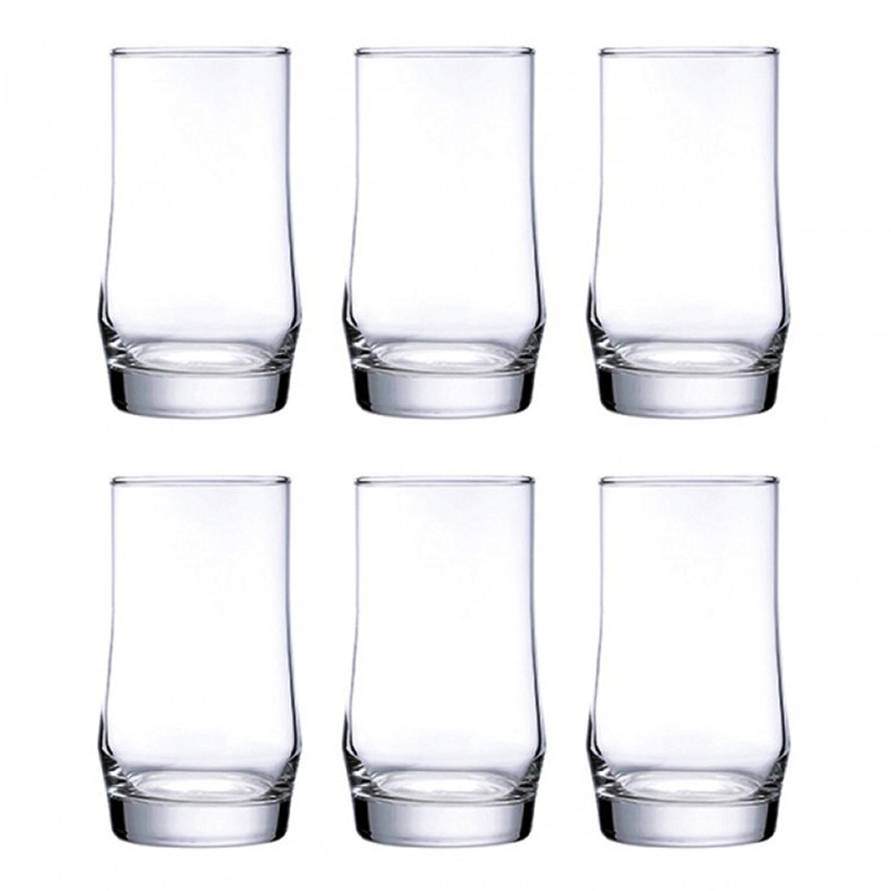 Scirocco Rock: Long Drinking Glass Set: 6pc, 410ml 1